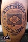 tatuagem escrita