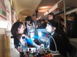Meu companheiro de stand, Klaudio Montecinos, do Iron Tattoo em Santiago.