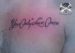 Tatuagem feita no último dia da convenção.