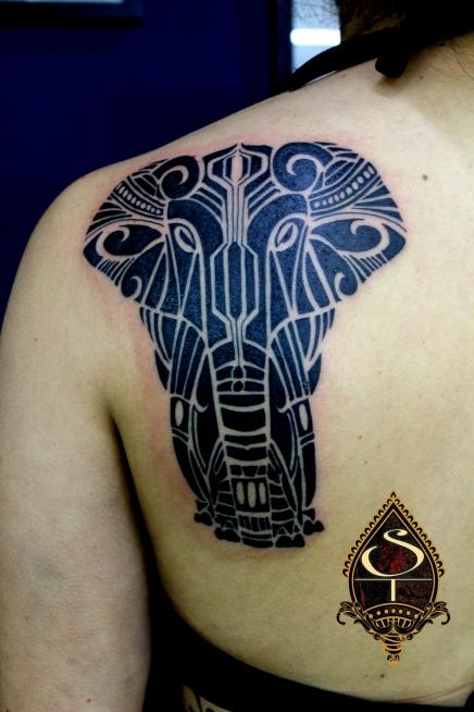 "Elefante ""blackwork'"